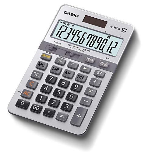 カシオ 本格実務電卓 12桁 日数&時間計算 グリーン購入法適合 ジャストタイプ JS-20DB-N