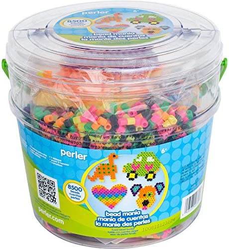 Perler Fuse Activity Bucket for Arts and Crafts, 8500 Beads, One Size