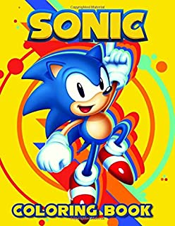 Sonic Coloring Book: JUMBO Coloring Book   60 illustrations   Sonic The Hedgehog   Great Coloring Pages   Ages 2-8