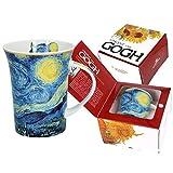 Carmani - Tazza in porcellana decorata con 'Notte stellata' di Vincent Van Gogh, 350 ml