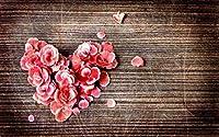 大人のためのDIY 5Dダイヤモンド絵画キット、家の壁の装飾のためのラインストーンクリスタル刺繍アートバラの花びらのハート 30x40cm