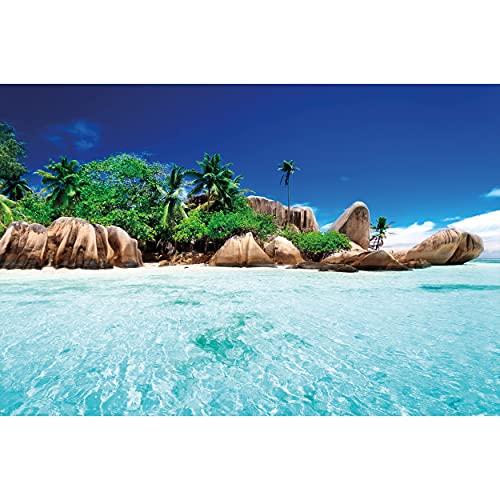 GREAT ART® XXL Poster – Isola in Acqua Cristallina Paradisiaca – Decorazione da Parete per...