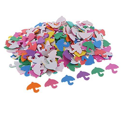 B Baosity 1 Set EVA Schaum Sticker Mini Schaumstoff Aufkleber Handwerk Kinder DIY Handwerk Basteln - Regenschirm