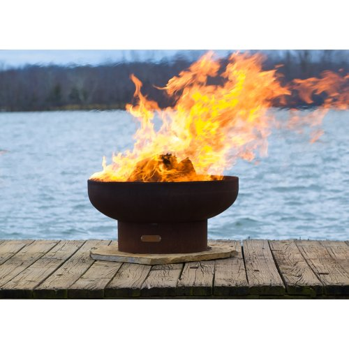Best Bargain Fire Pit Art LB Low Boy 36 Fire Pit NG, Metal