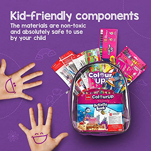 Cello ColourUP Hobby Bag for Kids | Drawing Kit | Stationery Kit | Best for Gifting | Oil Pastel (25 Units) | Jumbo Wax Crayon (12 Units) | Free... 3