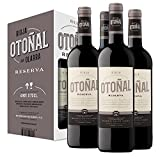 Otoñal - Vino Tinto Reserva, DOCa La Rioja, Vino Elegante y Actualizado de Bodegas Olarra, Pack de 4 Botellas de 750 ml