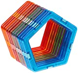 Magformers Pentagon 12 Pieces Rainbow Colors, Educational Magnetic Geometric Shapes Tiles Building STEM Toy Set Ages 3+