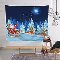 クリスマス 壁掛け 200*150cmA タペストリー かわいい クリスマス飾り ステッカー サンタクロース 雪だるま トナカイ 窓飾り クリスマスツリー おしゃれ ファブリックポスター 壁飾り 部屋 飾り お祝い イベント 洗える カラー 丸とカバー