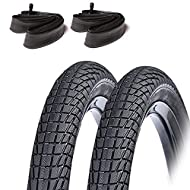 Pack of 2x Tyres, and 2x Tubes (Schrader Valve) Size: 18 x 2.125 Smooth Tread pattern - Smooth Rolling with Great Grip on hard surfaces High quality with good wear and high performance Durable long lifespan