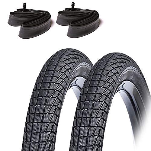 ASC 2 x Kinder-Fahrradreifen & Schläuche (Schrader-Ventil) – 18 x 2,125 Reifen – Kinderfahrrad / kleines BMX