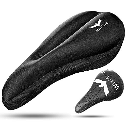 WizMove Gel Bike Seat Cover Bike Seat Cushion for Most Comfortable Seat - Bicycle Seat Cover for Mountain Bike Seat and Road Bike Saddle