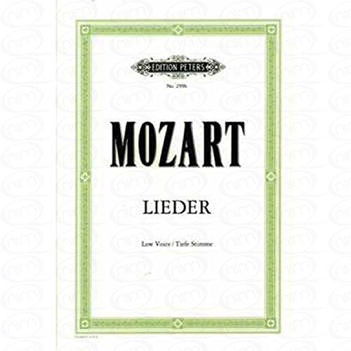 LIEDER - arrangiert für Gesang - Tiefe Stimme (Low Voice) - Klavier [Noten/Sheetmusic] Komponist : MOZART WOLFGANG AMADEUS