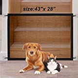 Magic Gate for Dogs, Pet Doorway Gate Dog Mesh Gate Pet Safety Guard Home Doorway Gate for Stairs, Outdoor and Doorways Pet Isolation Net Safety Fence Install Anywhere, As Seen As On TV