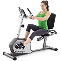 Marcy Recumbent Exercise Bike with Adjustable Seat