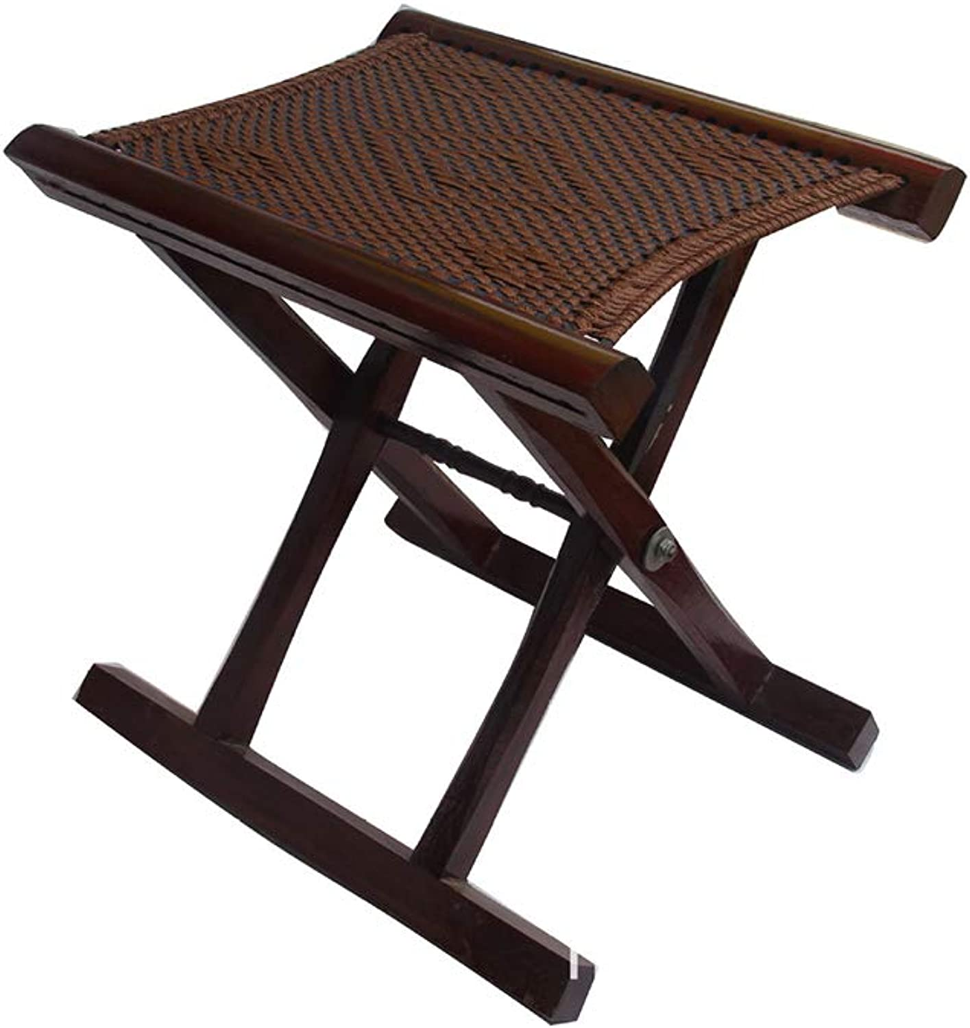 YQQ Folding Chair Small Bench Portable Mazar Solid Wood Change shoes Stool Fishing Stool 33  28CM
