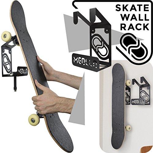 MEOLLO Skateboard Wandhalter (100% Stahl) (schwarz)