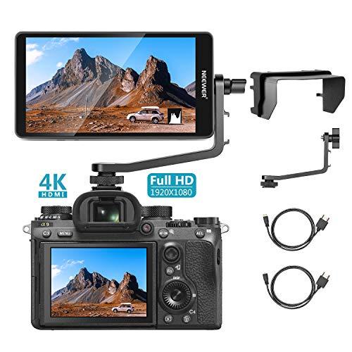 Neewer FW568 5,5 Zoll Kamerafeldmonitor Full HD 1920 x 1080 IPS mit 4K HDMI DC Eingang Ausgang Video Peaking Focus Assist für DSLR Kamera und Gimbals (Akku nicht im Lieferumfang enthalten)