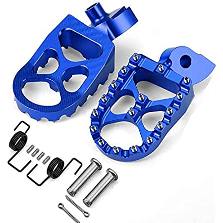 Pair MX Billet Foot Pegs Rests Footrests For Yamaha WR250F 01-18 WR450F 03-18