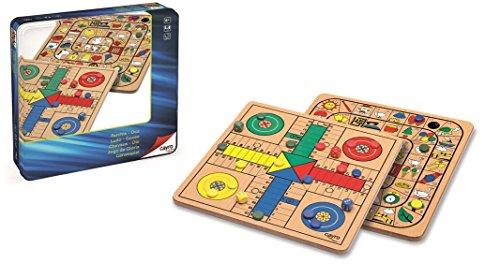 Cayro - Parchis y Oca Madera Metal Box - Juego de Tradicional - Juego de Mesa - Desarrollo de Habilidades cognitivas - Juego de Mesa (752)