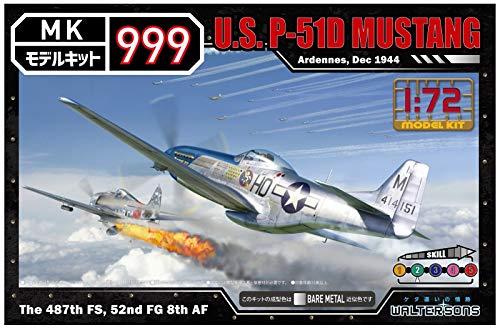 ウォルターソンズジャパン 1/72 モデルキット999シリーズ アメリカ軍 P-51Dマスタング 色分け済みプラモデ...