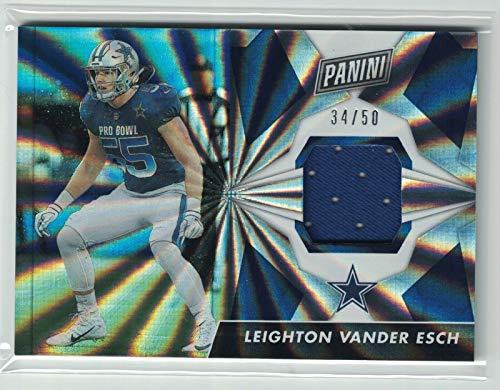 2019 Panini Day Football Cracked Ice Leighton Vander Esch Jersey Card #'d /50