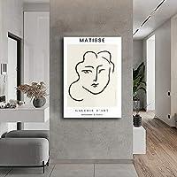 アンリ・マティス肖像画壁アート寝室リビング部屋装飾マティスポスターパネルホームフォーヴィスム画像壁装飾マティス絵画プリントキャンバス Spt-T4-390