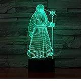 Santa Clause Man 16 Couleurs Table Lampe Led Veilleuse pour Enfants Cadeau Home...