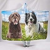 LIFOOST Manta para perro o mascota universal, muy cómoda, grande, diseño impreso, apta para silla de sofá para jóvenes, regalo blanco, 150 x 200 cm