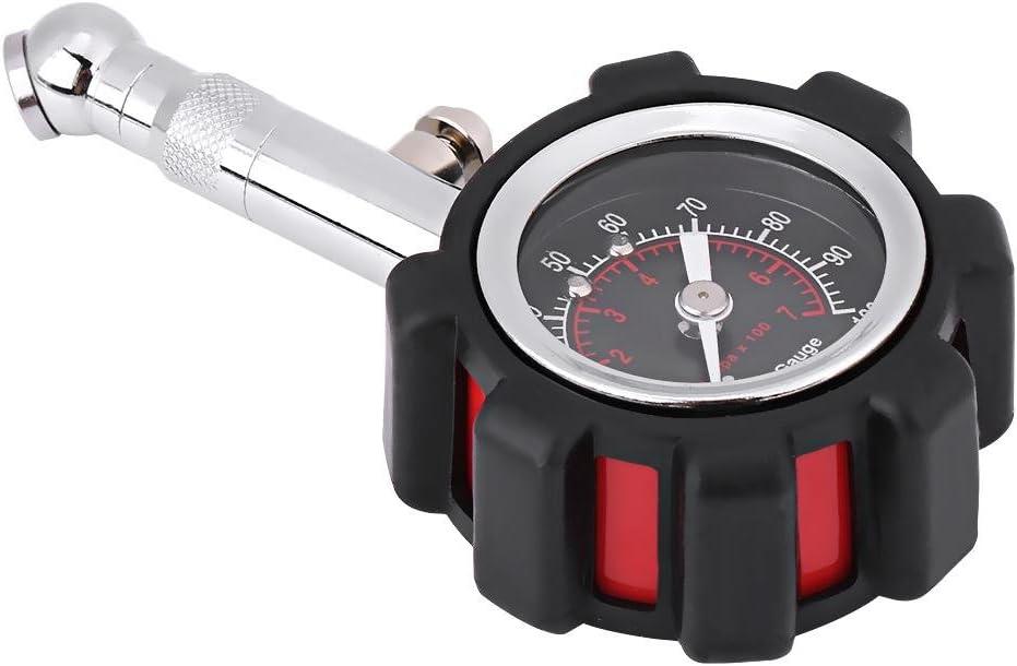 Medidor de presión de neumáticos 0-100PSI, medidor de presión de aire manual profesional de servicio pesado Medición precisa