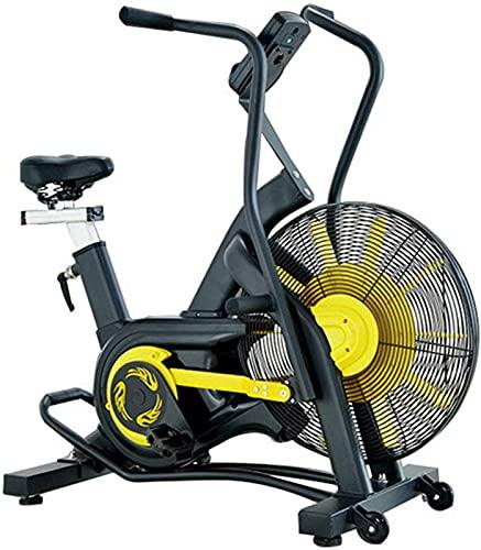 ZJDM Bicicleta con Ventilador, Bicicleta de Fitness, Bicicleta estática, Bicicleta elíptica, con Sistema de Resistencia al Aire, para el hogar y el Gimnasio, Bicicleta de Ejercicios de pie para o