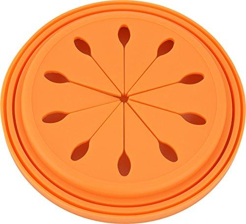 『和平フレイズ キッチン水廻り用品 排水口カバー スキッとシリコーン。 15cm オレンジ SR-4856』の4枚目の画像