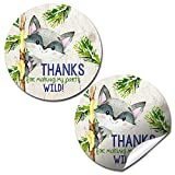 Our Little Rascal Cute Raccoon Birthday Thank You Sticker Labels for Kids, 40 2' Party Circle Stickers by AmandaCreation, Great for Party Favors, Envelope Seals & Goodie Bags