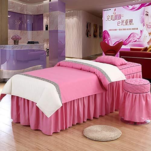 XUESUNSS Beauty-Bett-Abdeckung Schreibtisch Bett Rock Kopfkissenbezug Hocker Abdeckung Für Massage Betten,spa Bettdecken Mit Gesicht Rest Loch-i 70x185cm(28x73inch)