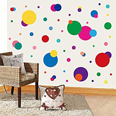 PARLAIM Wall Stickers for Bedroom Living Room, Polka Dot Wall Decals for Kids Boys and Girls (160 Circles)