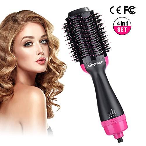 Multifunktion Haartrockner Warmluftbürste Salon Hair Styler Volumizer Volumen bürste Heißluftkamm Föhnbürste Haarglätter Bürste Negativer Ionen Föhn für alle Haartypen 1000W
