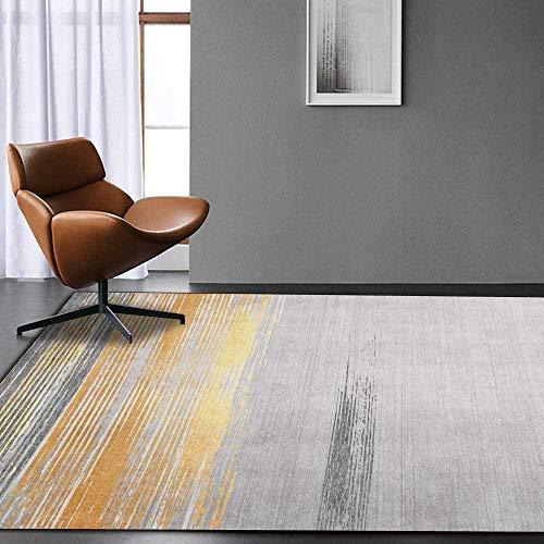 Teppich Moderner Wohnzimmer Große Area Rugs Leichte luxuriöse metallgraue Stiche Schlafzimmer Zimmer Teppich Sofa Tisch Kind Krabbeln Matte 100x200CM (3ft28''x6ft7)
