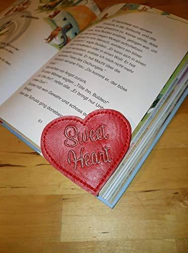 Leseecke Lesezeichen Herz Auswahl personalisierbar Buchecke lesen Bücherwurm Buchzeichen Hobby heart