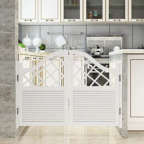 Interior Doors Hinge Swing Door Cafe Bar Pub, Solid Wood Environmental Printing Color on Water Base Half Waist Part Fridge door Kitchen Gang Mediterranean Sea Home Accessories ( Size : 85x100cm )