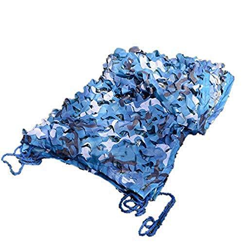 Carl Artbay Markisenplane Marine Blue Camouflage Net für Swimming Pool im Freien dekorative Schatten (anpassbare Größe) (Größe: 6x10M) Camouflage Tarnnetz (Size : 4x7m)