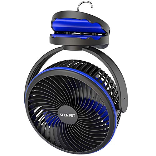 10000mAh Portable Rechargeable Clip on Fan, 40 Hours Work Time, 7  Battery Operated Fan with Hanging Hook, 2-6 Hours Timer, USB Fan, 4 Speeds Personal Desk Fan, Ideal for Outdoor Camping Picnic Beach