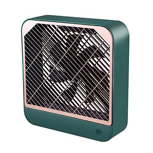 Mini Ventilador De Mano, Ventilador USB, Pequeño Ventilador De Escritorio Personal Portátil Impulsado por Batería Recargable USB, para Viajes, Oficina Y Uso Doméstico (Color : Green)