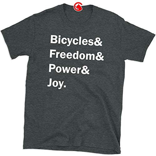 Bicycles Freedom Power Joy Shirt Bicycle Lovers Gifts Tee for Men Women, Unisex (Click Customize, Click Customize)