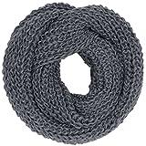 CASPAR SC242 Bufanda Infinita de Punto para Mujer - Estilo Casual, Color:gris moteado
