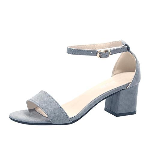8b757357f199 Lolittas Summer Ladies Gladiator Sandals for Women,High Block Heel Peep Toe  Wide Fit Slingback