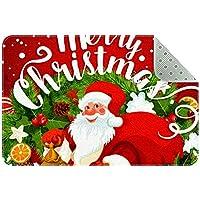 エリアラグ軽量 メリークリスマスサンタクロース赤ワイン フロアマットソフトカーペットチホームリビングダイニングルームベッドルーム
