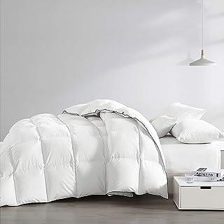 Hungarian Goose Down Comforter King 750+ Fill Power 1200 Thread Count Organic Cotton Hypoallergenic Down Duvet Comforter W...