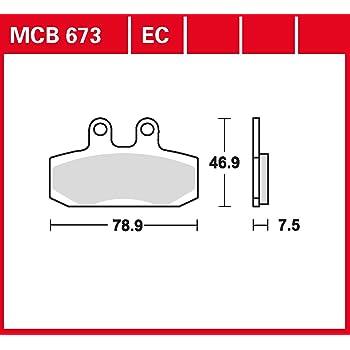 Organisch mit ABE TRW Lucas MCB684EC Scheibenbremsbelag