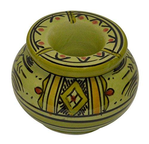 Ceramic Ashtrays Moroccan Handmade Smokeless Cigar Exquisite Design with Vivid Colors Small