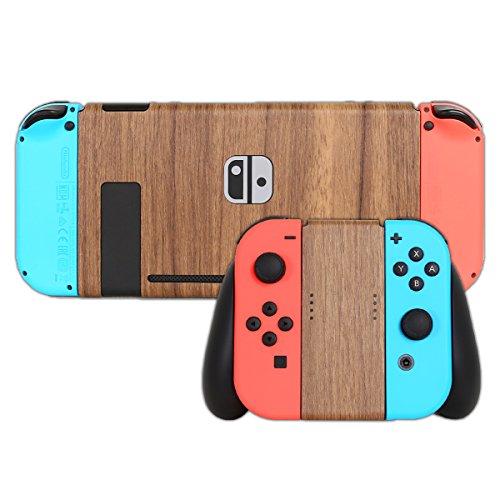 Nintendo Switch 本体用 スキンシール 木目調 ナチュラルウッド カバー シール ケース 高級素材 側面対応 丈夫で長持ち 保護 高級感のある手触り 簡単に貼り付け可能 ニンテンドースイッチ