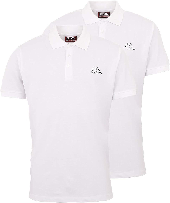 Kurzarm Poloshirt f/ür Sport Kappa Herren Polo Shirt VENIST im 2er Pack Basic Poloshirts f/ür M/änner Freizeit und B/üro Polo-Hemd mit diskretem Logodruck und Kent Kragen Regular Fit